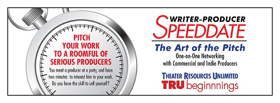 Theater Resources Unlimited Announces Next Writer-Producer Speed Date