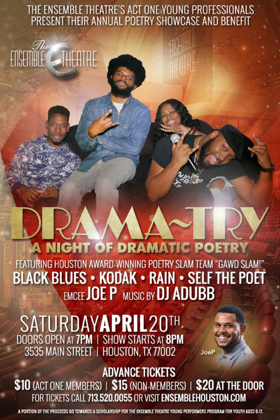 Ensemble Theatre Act One Young Professionals Kick Off 8th Annual Poetry Showcase