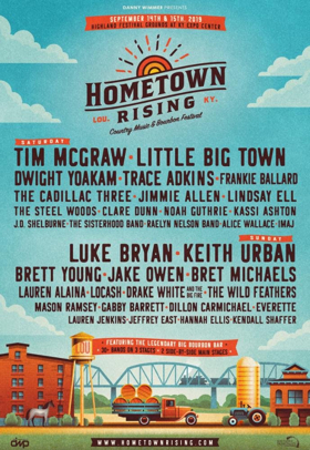 Hometown Rising Music Lineup Adds Trace Adkins, Dillon Carmichael and The Sisterhood Band