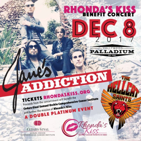 Greg Behrendt To Host And Jane's Addiction To Headline Third Annual Rhonda's Kiss Benefit Concert, Friday 12/8