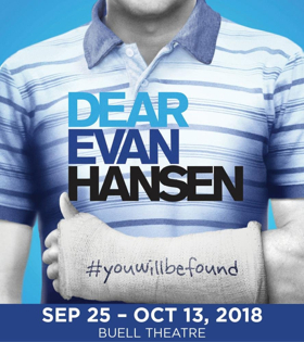 Tickets On Sale August 3rd for DCPA Season; DEAR EVAN HANSEN, ANASTASIA, and More