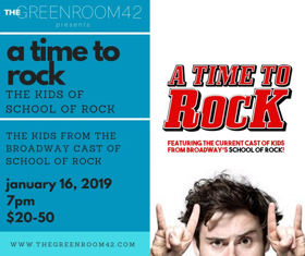 Shine Theatre Arts Project Presents The Kids of Broadway's SCHOOL OF ROCK