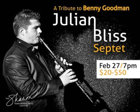 The Sharon Welcomes A Tribute to Benny Goodman