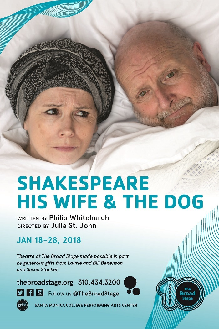 A Shakespeare Gift for the Holidays: SHAKESPEARE HIS WIFE AND THE DOG at The Broad Stage