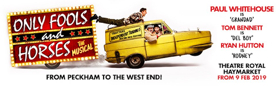 Book Now For ONLY FOOLS AND HORSES - THE MUSICAL