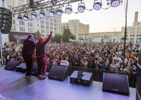 Busta Rhymes and Justine Skye Perform At BAT Block Party At Brooklyn Army Terminal