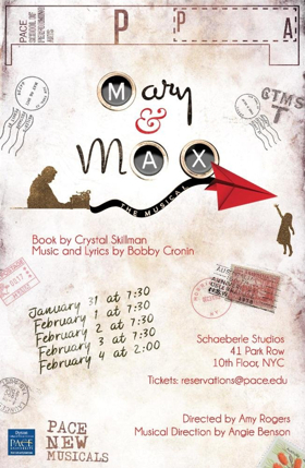 MARY & MAX Selected for Pace New Musicals