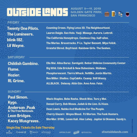 Outside Lands Announces Daily Lineups