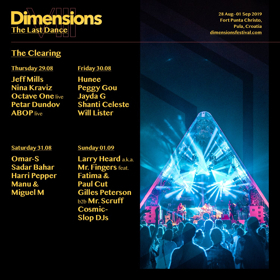 Dimensions Festival Announce Stage Splits for 2019 Edition