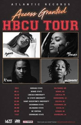 Atlantic Records and Live Nation Urban Present the 2018 Access Granted: HBCU College Tour