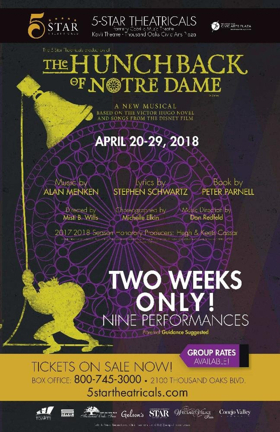 5-Star Theatricals Announces THE HUNCHBACK OF NOTRE DAME
