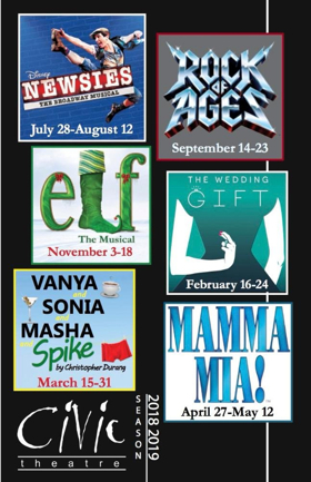 Fort Wayne Civic Theatre Announces 2018-2019 Season, ROCK OF AGES, ELF, and More!