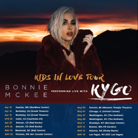 Bonnie McKee To Join Kygo On North American Tour