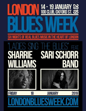 Sari Schorr to Play London's 100 Club During Blues Week
