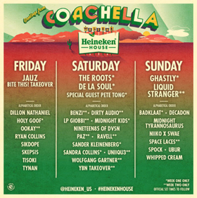 The Roots, De La Soul Headline Heineken House At Coachella