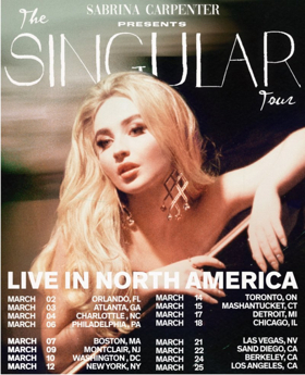 Sabrina Carpenter Announces 'The Singular Tour'