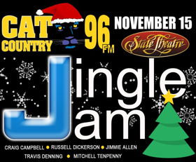 Lineup Of Five Stars Set For The Cat Country 96 Jingle Jam