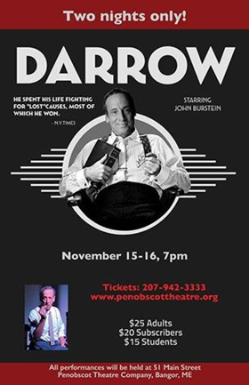 John Burstein Reprises Role as DARROW at Penobscot Theatre Co
