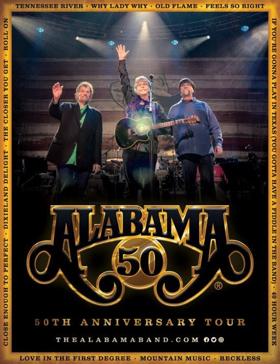 ALABAMA Announces '50th Anniversary Tour'