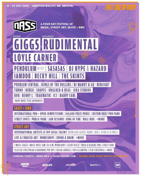 NASS Festival Announces First Acts, Featuring Giggs, Rudimental, Loyle Carner