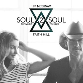 Tim McGraw & Faith Hill's 'Soul2Soul' Tour to Stop in Hershey Next June