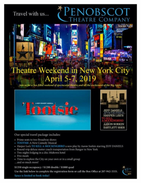 Penobscot Theatre Co Announces Itinerary For April Trip To NYC