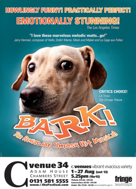 BARK! THE MUSICAL Comes to Edinburgh Fringe
