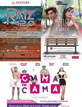 ESTRENOS de la semana... AQUELLA BANCA DEL PARQUE / RAIZ 2.0  / DE CAMA EN CAMA.