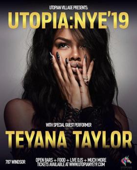 Multi-Talented Performing Artist Teyana Taylor Headlines Premier New Year's Eve Party, Utopia NYE, in Atlanta