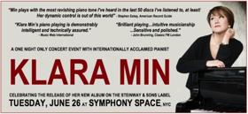 Pianist Klara Min to Celebrate Album Release at Symphony Space