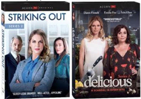 STRIKING OUT Season 2 with Amy Huberman and DELICIOUS Season 2 Out on Acorn DVD July 3