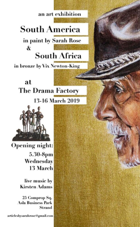 SOUTH AMERICA IN PAINT & SOUTH AFRICA IN BRONZE Come to The Drama Factory