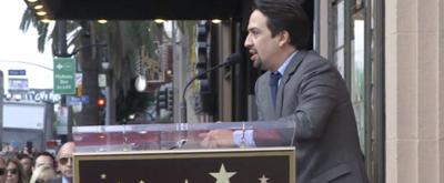 VIDEO: Watch Lin-Manuel Miranda Imprint His Hands on the Hollywood Walk of Fame