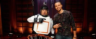 VIDEO: James Corden Plays Human Basketball with Stephen Curry