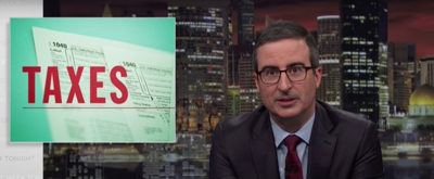 VIDEO: John Oliver Tackles Taxes, Trump, & More on LAST WEEK TONIGHT WITH JOHN OLIVER