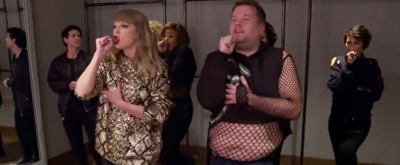 VIDEO: James Corden Subs In for Taylor Swift's Backup Dancer!