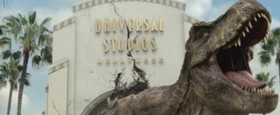 VIDEO: JURASSIC WORLD's Dinosaur Invades Universal in New Ad
