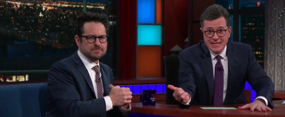 VIDEO: Stephen Colbert and J.J. Abrams Invite Entire Studio Audience to See THE PLAY THAT GOES WRONG