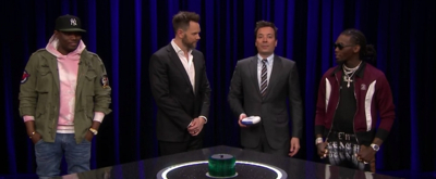 VIDEO: Jimmy Fallon Plays Catchphrase with Joel McHale, Michael Che and Offset