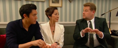 VIDEO: James Corden Can't Impress Henry Golding's Mom on THE LATE LATE SHOW