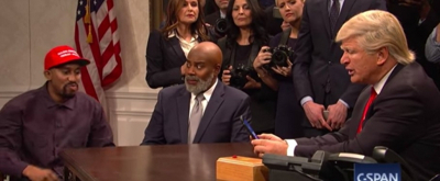 VIDEO: Alec Baldwin's Trump Faces Kanye West in the Oval Office on SNL