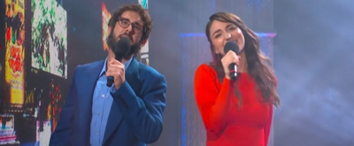 VIDEO: Sara Bareilles and Josh Groban Perform 'Tony Awards: The Musical' on The Late Show