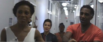 VIDEO: The Cast of ONCE ON THIS ISLAND Gives Robin Roberts a Special Dressing Room Performance