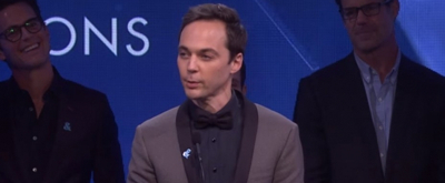 VIDEO: Jim Parsons Receives GLAAD Award from Ryan Murphy and the Cast of THE BOYS IN THE BAND