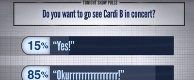 VIDEO: Fallon Polls His Audience on Whether or Not They Want to See Cardi B in Concert and More