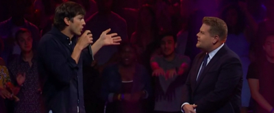 VIDEO: James Corden and Ashton Kutcher Compete in an Epic Rap Battle