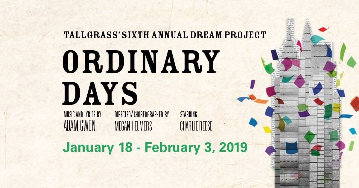 BWW Review: ORDINARY DAYS at Tallgrass Theatre Company - Find Beauty in the Ordinary