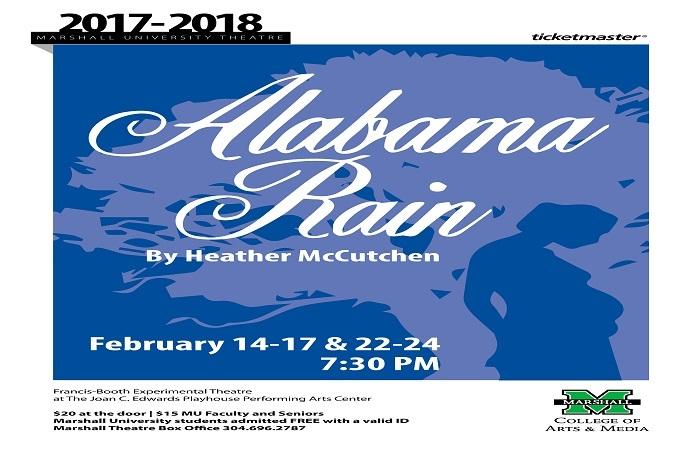 ALABAMA RAIN at Joan C. Edwards Performing Arts Center this February