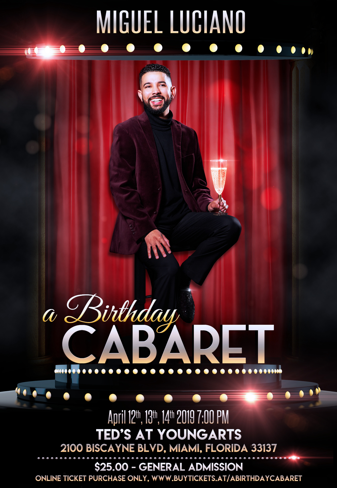 Miguel Luciano's A BIRTHDAY CABARET Premieres In Miami For 3-Night Engagement