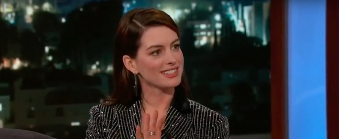 Anne Hathaway Tells Kimmel About Her Theatre Roots at the Paper Mill Playhouse